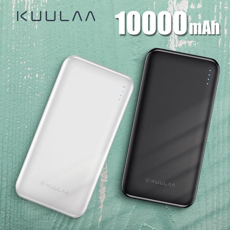 KUULAA batterie externe 10000 mAh PowerBank Portable chargeur de batterie externe 10000 mAh USB pour Xiao mi mi 9 8 iPhone