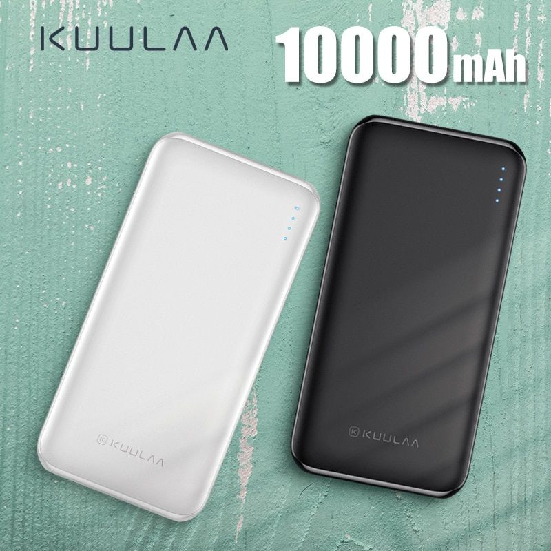 KUULAA Power Bank 10000 mAh PowerBank Portable Charging Poverbank 10000mAh USB External Battery Charger For Xiaomi Mi 9 8 iPhone