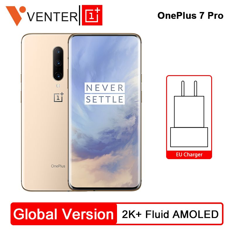 Globale Version Oneplus 7 Pro Handy 8 GB 256 GB Snapdragon 855 6,67 90 GHz 2 K Bildschirm 48MP NFC Android 9