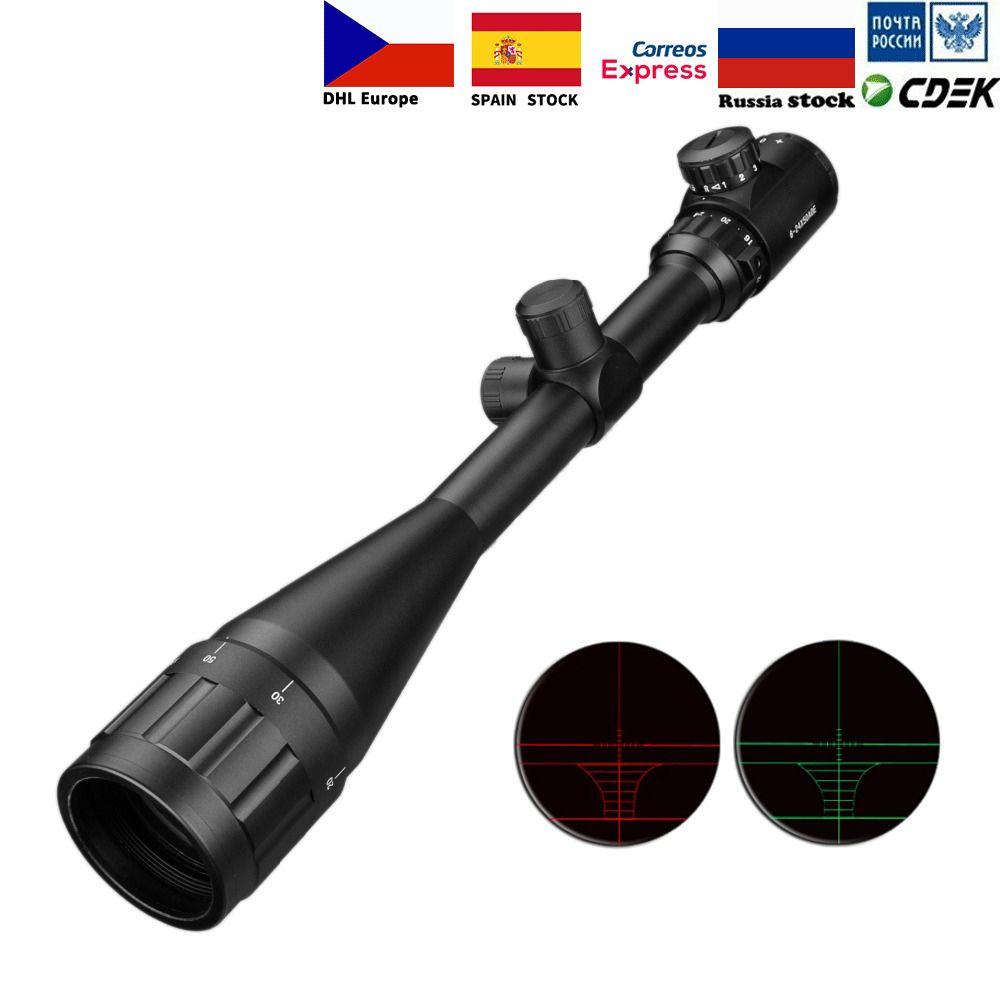 6-24x50 Aoe lunette de visée réglable vert rouge point chasse lumière portée tactique réticule optique portée de fusil
