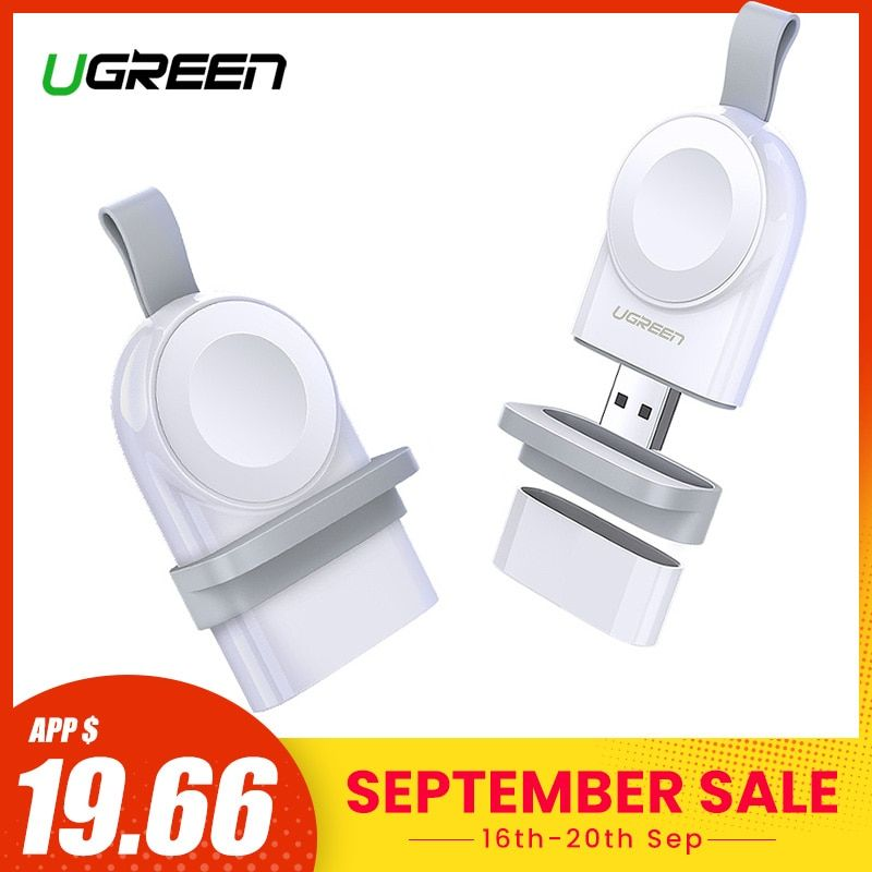 Ugreen Wireless Charger for Apple Watch Series 4 3 Portable Fast USB Charger 44/38mm No Charger Cable Magnetic Wireless Charging