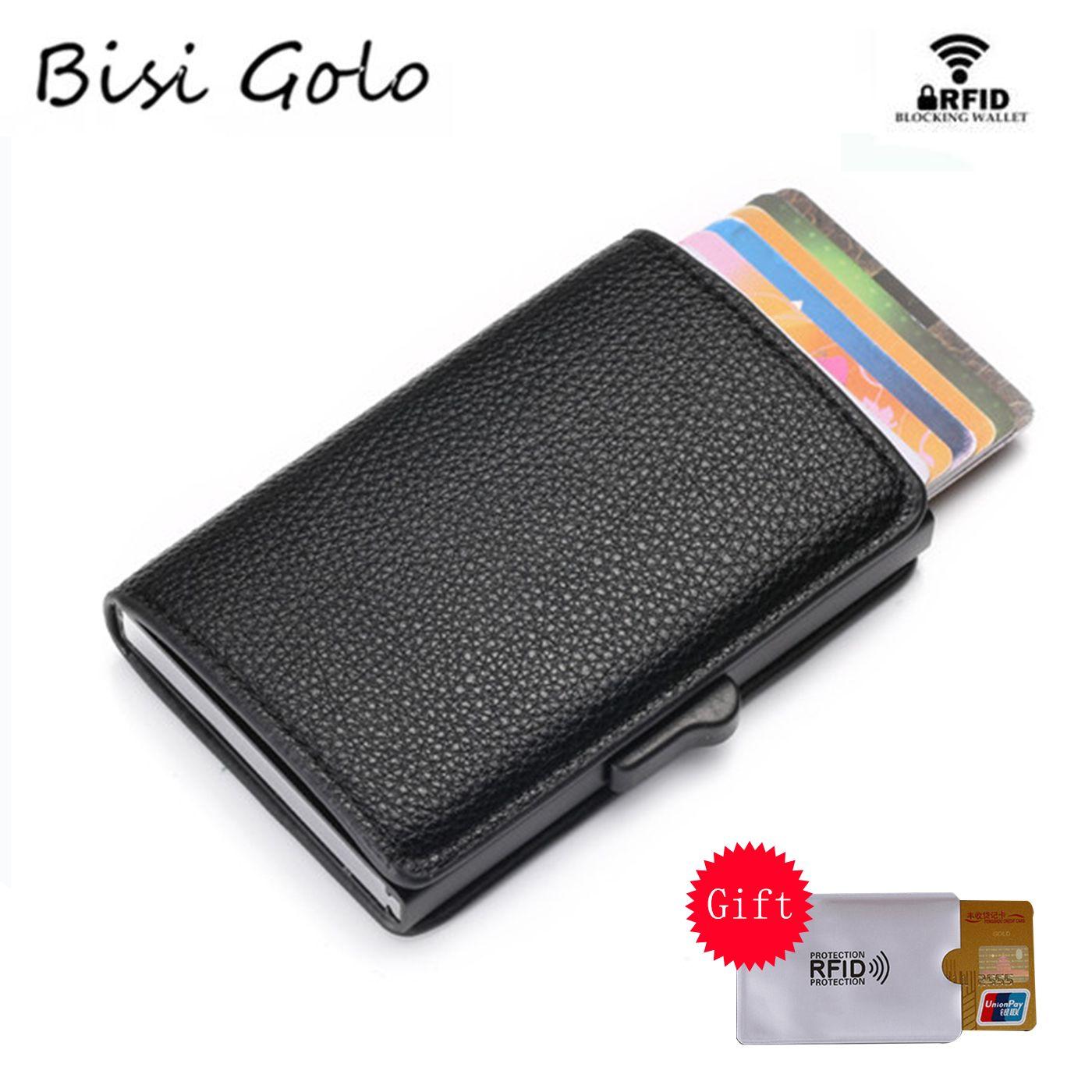 BISI GORO nouveauté portefeuille en cuir souple RFID blocage porte-carte d'identité multifonctionnel haute qualité sac d'argent 3 couleurs étui à cartes