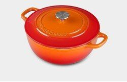 Dianjiang cast iron enamel pot stew soup pot 24cm thick enamel pot export quality general electromagnetic oven