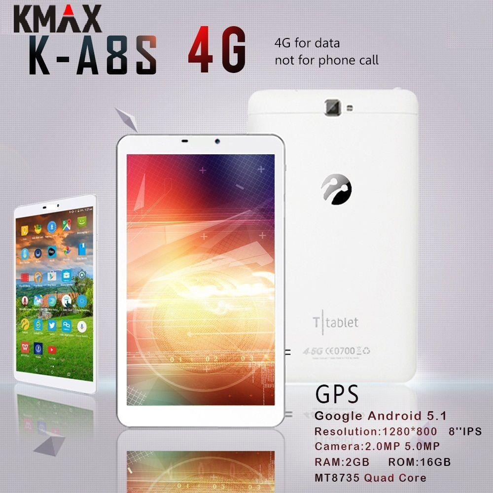 KMAX 8 pouces 4G lte android tablette PC carte SIM 3G Quad Core 2GB 16GB HD IPS LCD GPS Bluetooth tablettes wifi 8 7 10 étui d'origine