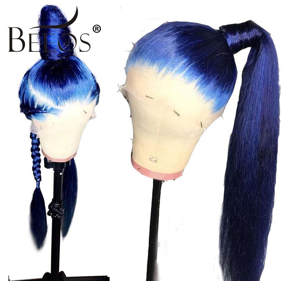 Pre Gezupft Volle Spitze Menschliches Haar Perücken Mit Baby Haar Gerade Brasilianische Transparent Spitze Perücke Geflochtene Glueless Remy Beeos