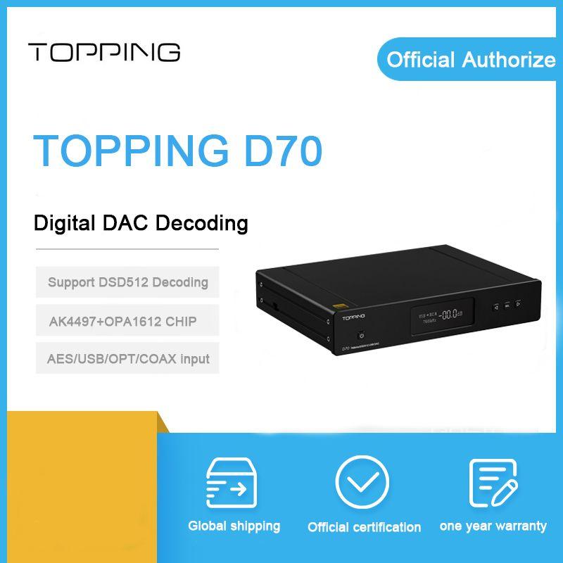 Richt D70 dac decoder Bluetooth XMOS XU208 AK4497 chip koaxial usb optische IIS eingang Balance xlr RCA ausgang DSD512 verstärker