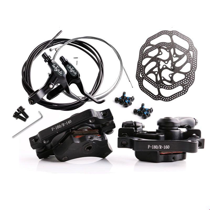 Jeu de freins à disque général VTT frein de vélo ligne mécanique tirant frein à disque étrier avant étrier arrière 160mm jeu de câbles