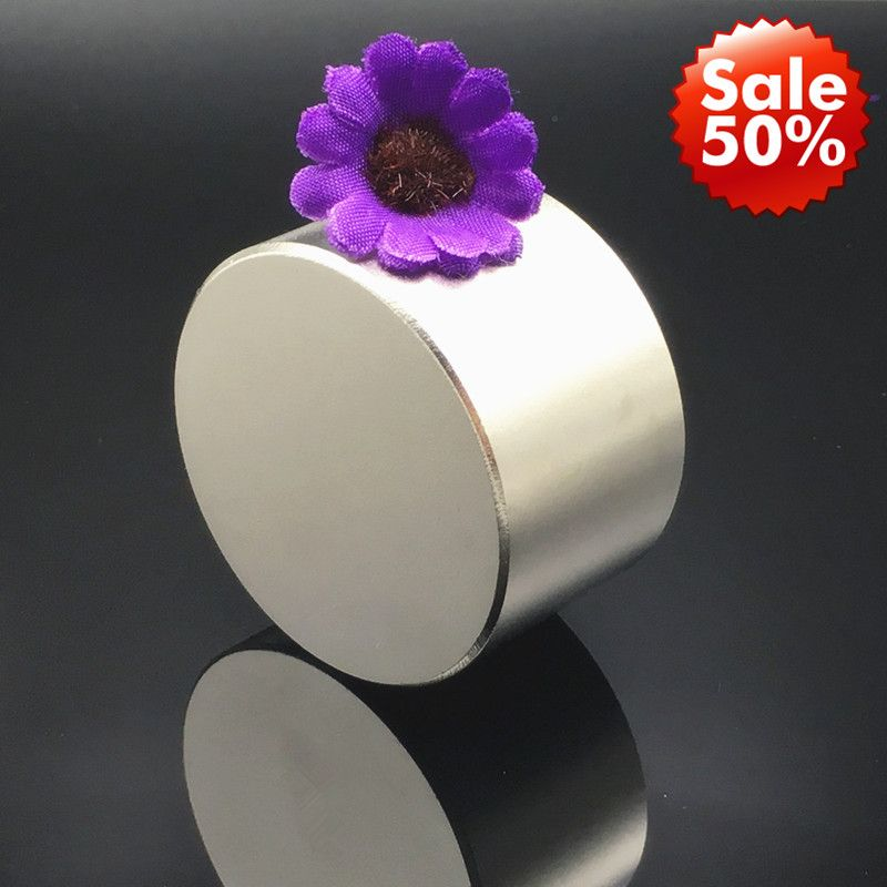 Magnet 1pcs/lot N52 Dia 50x30 mm hot round magnet Strong magnets Rare Earth Neodymium Magnet powerful permanent magnetic