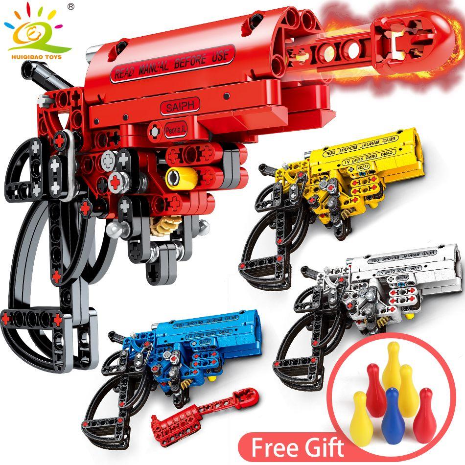 4Color Shooting Signal Gun Building Blocks Compatible legoingly Technic Weapon DIY Game Bricks Educational Toys for Children boy