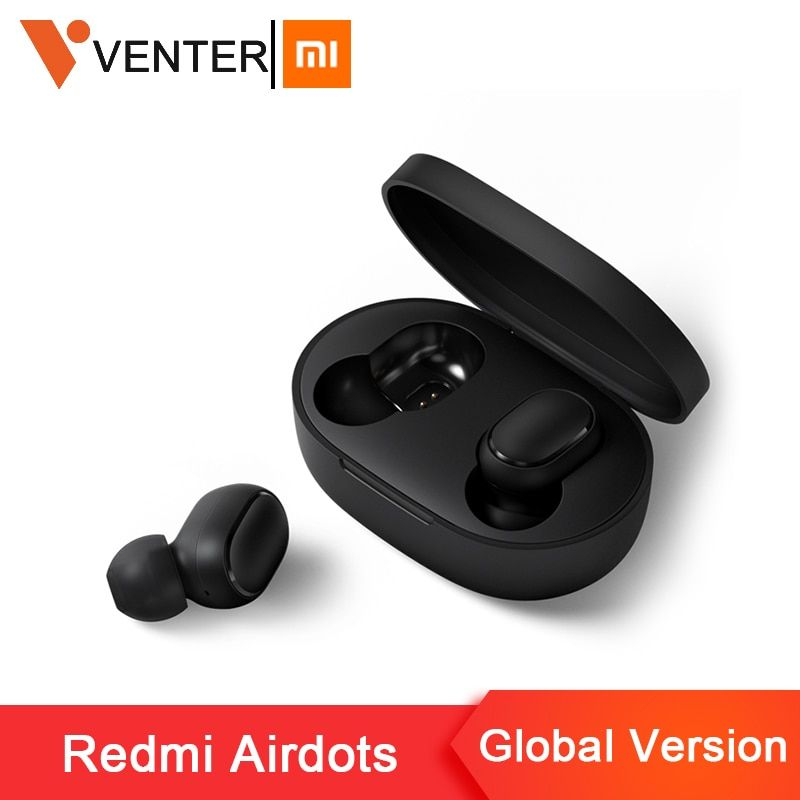 Stock Original Xiaomi Redmi Airdots TWS Wireless Bluetooth Earphone Stereo bass Bluetooth 5.0 With Mic Handsfree AI Control