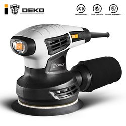 DEKO DKSD28Q1 280W Random Orbit Sander  with 15 Sheets of sandpaper Dust exhaust and Hybrid dust canister