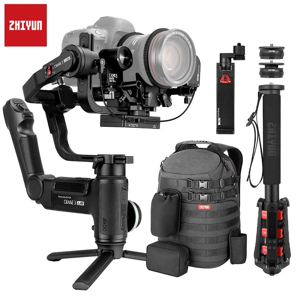 Zhiyun Kran 3 Labor Kran 2 Upgrade-Version 3-Achsen Gimbal Stabilisator für DSLR Kameras, 1080 P Volle HD Drahtlose Bild Übertragung