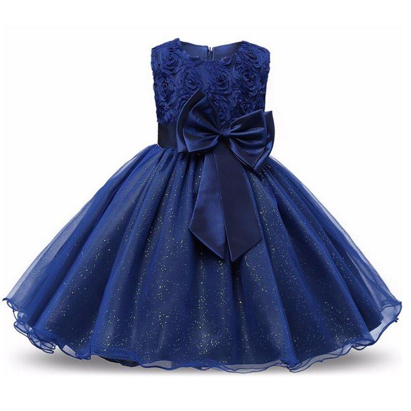2019 hiver filles robe Bow robe de fête de mariage enfants robes pour filles Costume élégant princesse robe noël enfants vêtements