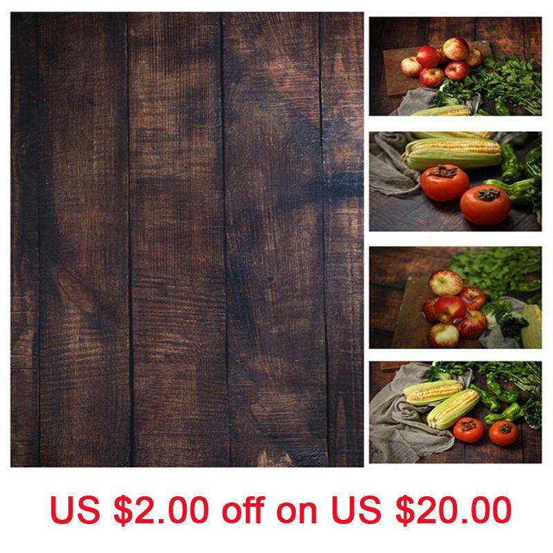 INS Style 56*90cm Double côtés bois marbre ciment mur comme Vintage photographie fond toile de fond papier conseil Prop pour la nourriture