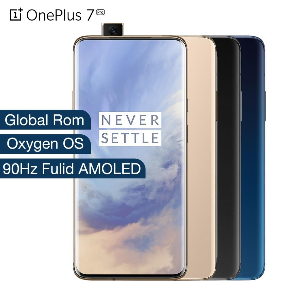 Globale ROM Oneplus 7 Pro 6GB RAM 128GB ROM Smartphone Snapdragon 855 Octa Core UFS 3,0 NFC 48 MP Triple Kamera Fulid Amoled