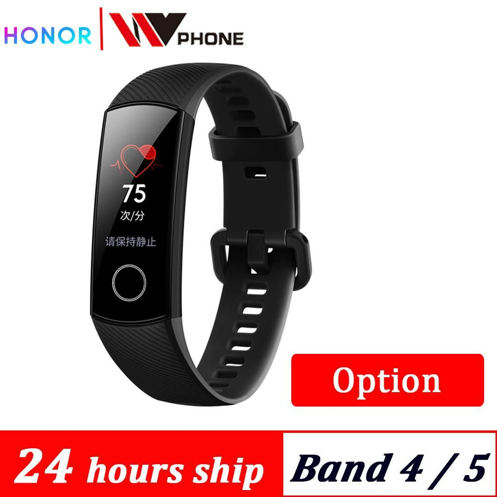 Original  Honor Band 4 band 5 Smart Bracelet 50m Waterproof Color ouch screen Heart Rate Sleep Snap Smart Wristband