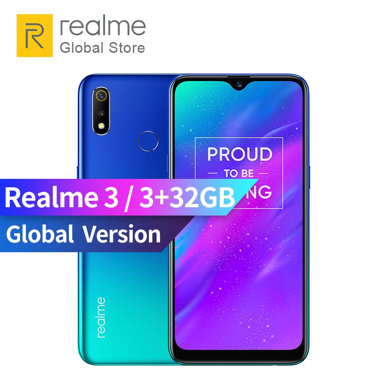 Global Version OPPO realme 3 3GB RAM 32GB ROM 6.2 inch Smart Moblie Phone 4230mAh Battery 13+2MP Dual Camera realme3 Smartphone