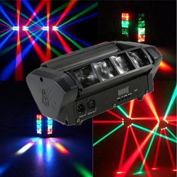 High Quality 8X10W Mini LED Spider Light/RGBW LED Beam Lights /DMX512/Auto/Sound Control LED Stage Effect Lights Home Party Lamp