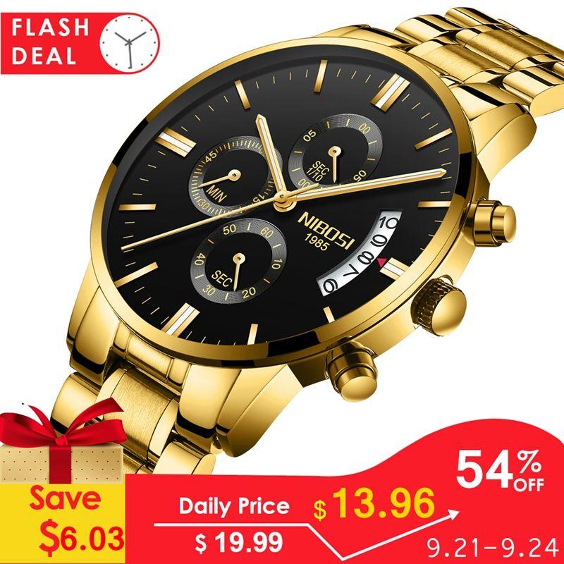 NIBOSI montre hommes étanche décontracté marque de luxe Quartz militaire Sport montre entreprise horloge hommes montres Relogio Masculino