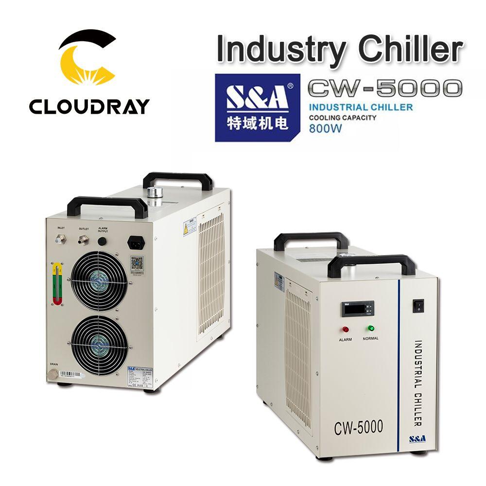 Cloudray S & A CW5000 Industrie Luft Wasserkühler für CO2 Laser Gravur Schneiden Maschine Kühlung 80W 100W laser Rohr