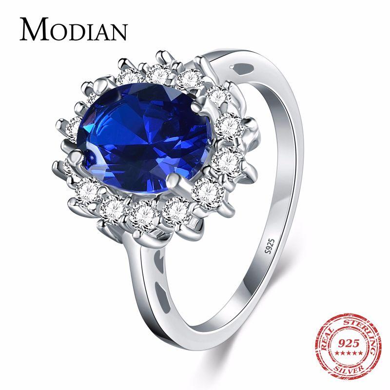 2.0Ct Fasion réel solide 925 bague en argent Sterling mode femmes cadeau 5A Zircon bijoux marque de fiançailles de mariage anneaux en argent