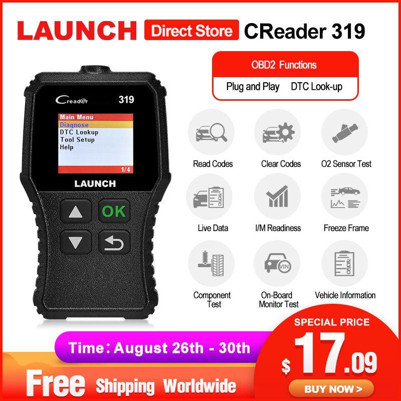 Lancement X431 Creader 319 OBD2 Scanner obd 2 voiture outil de Diagnostic CR319 Auto ODB lecteur de Code voiture outils de numérisation PK ELM327 OM123 AD310