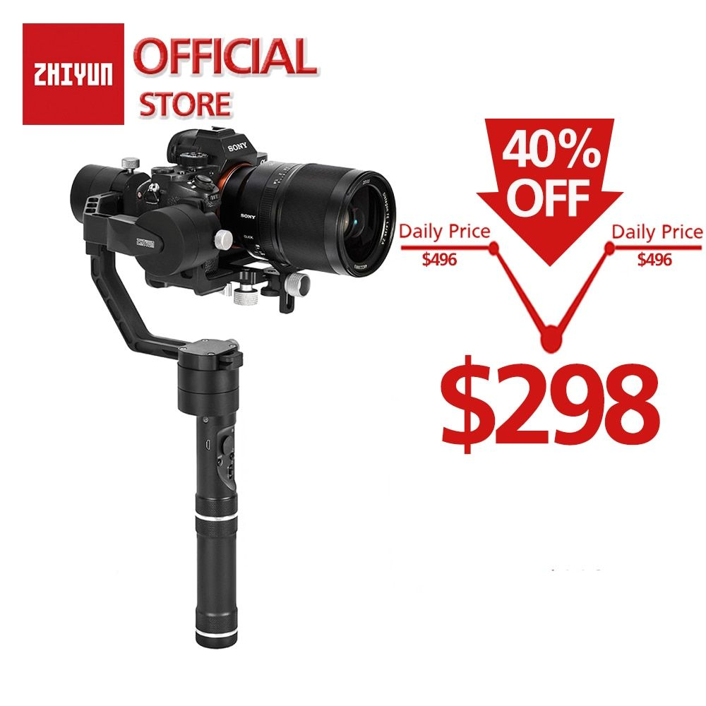 ZHIYUN Offizielle Kran V2 3-Achse Handheld Gimbal Stabilisator Kit für DSLR Kamera Sony/Panasonic/Nikon/ canon Enthalten Stativ