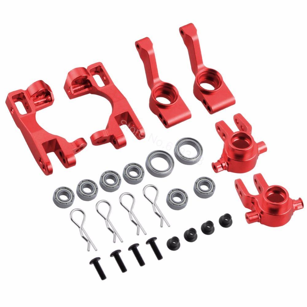 Pour 1/10 Traxxas Slash 4x4 pièces de blocs d'articulation de direction en aluminium # 6837X c-moyeux 6832X porte-essieux Kit de mise à niveau des blocs de roulette