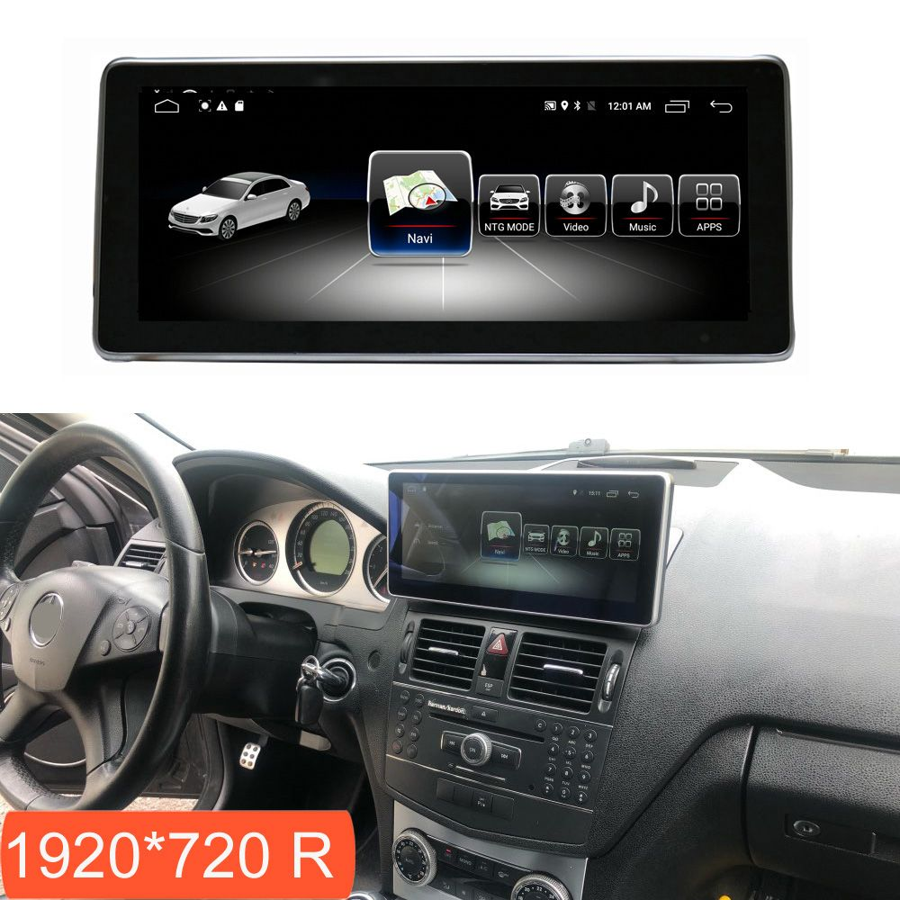 4 + 64G Android Multimedia Touch Bildschirm für Mercedes Benz C Klasse W204 2008-2010 Auto Comand Display mit Radio GPS Navigation