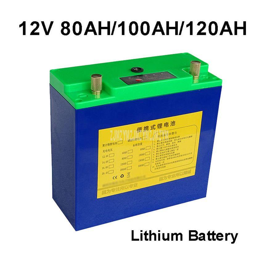 12V 80AH/100AH/120AH Lithium-Batterie Ultra-leichte Echt-Qualität Usb-schnittstelle Für Inverter Outdoor tragbare Power Versorgung