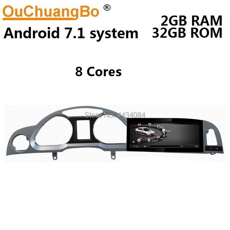 Ouchuangbo 10,25 zoll auto radio gps stereo multimedia für A6 A6L 2005-2011 mit rahmen 8 kerne 2 + 32 touchscreen android 7.1