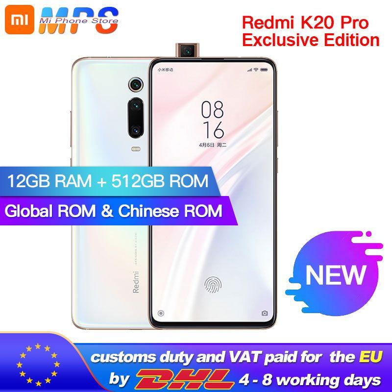 Globale ROM Xiaomi Redmi K20 Pro 12GB 512GB Smartphone Snapdragon 855 plus Octa Core 4000mAh 48MP Triple kameras 6,39''