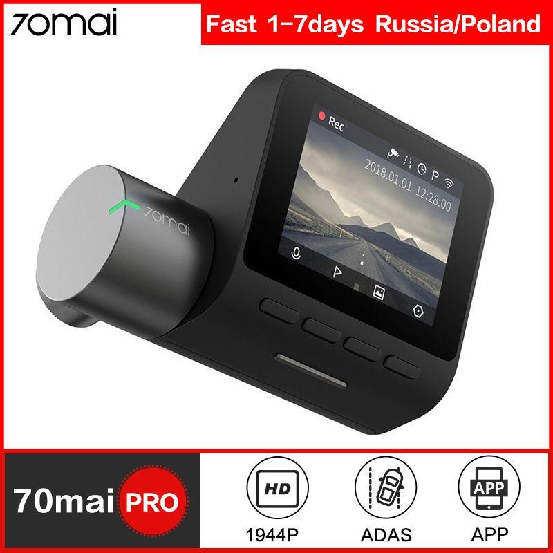 70mai tableau de bord caméra Pro voiture intelligente DVR caméra Wifi 1944P GPS ADAS contrôle vocal moniteur de stationnement 140FOV Vision nocturne tableau de bord caméra