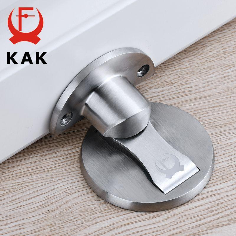 KAK magnétique butée de porte 304 en acier inoxydable porte bouchon caché porte supports attraper plancher sans clou porte meubles matériel