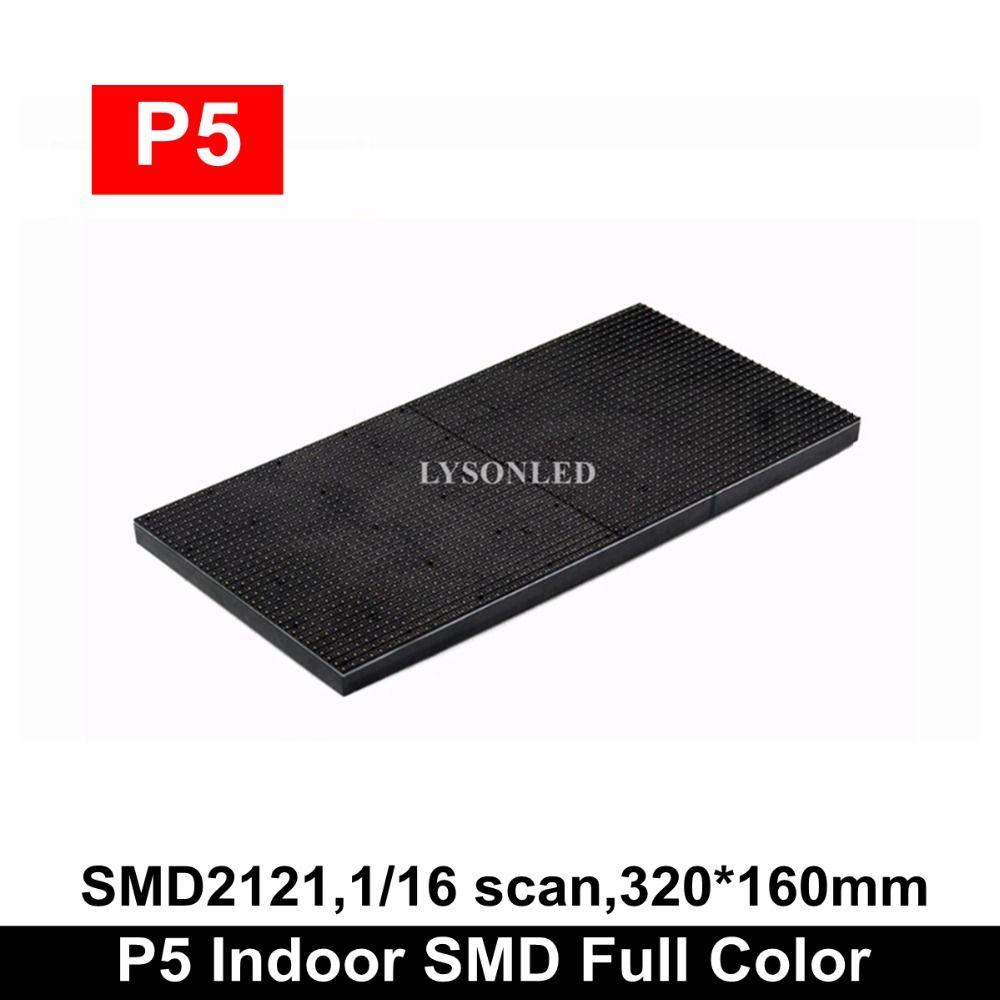 LYSON LED D'intérieur SMD2121 RVB 1/16 Scan P5 LED Module 320x160mm 64x32 Pixels Hd mur vidéo LED RVB P5 LED Panneau D'affichage 32x16cm