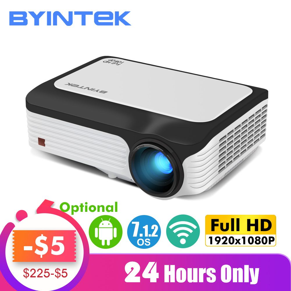 BYINTEK M1080 Smart (2GB + 16 GB) android WIFI FULL HD 1080P Tragbare LED Mini Projektor 1920x1080 LCD Video Für Iphone Für Netflix