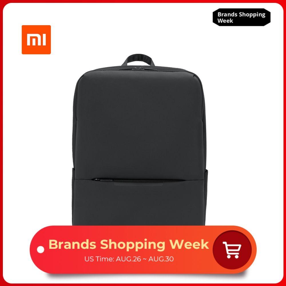 Original Xiaomi classique affaires sac à dos 2 génération 15.6 pouces étudiants ordinateur portable sac à bandoulière unisexe extérieur voyage