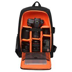 Waterproof Functional DSLR Backpack Camera Video Bag w/ Rain Cover SLR Tripod Case PE Padded for Photographer Canon Nikon