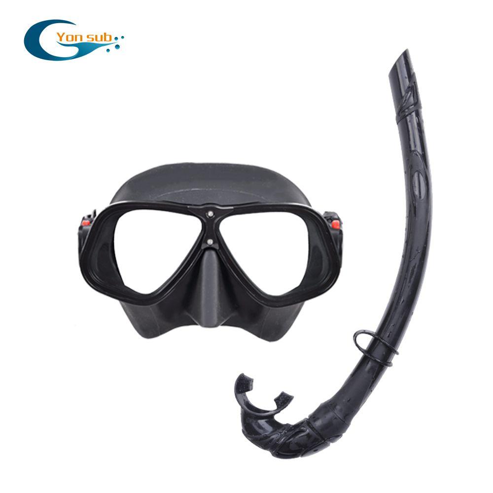 Masque de plongée sous-marine professionnel en alliages de magnésium et d'aluminium masque en Silicone