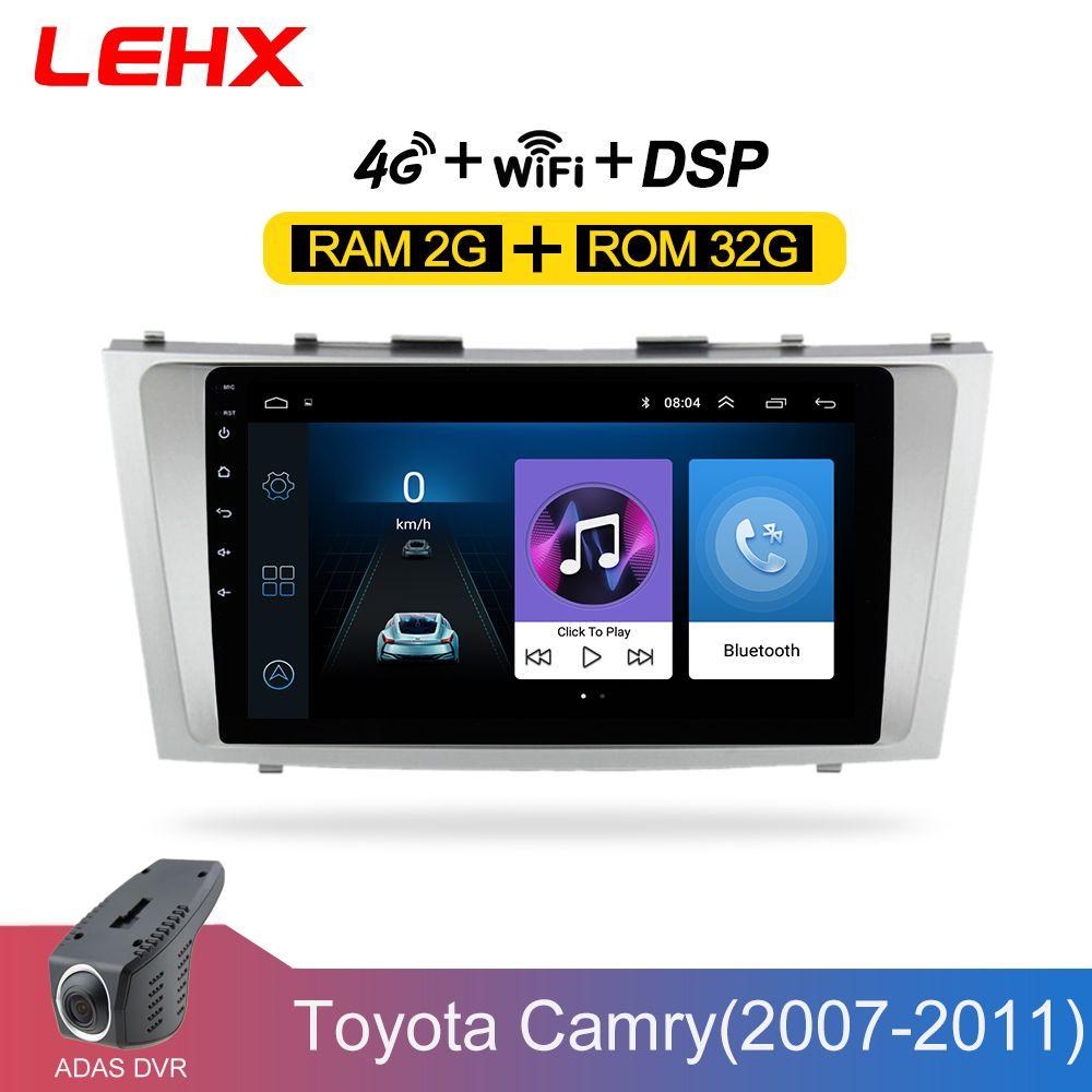 LEHX Android 8.1 Auto Multimedia-Player 2 din autoradio für toyota camry 2007 2008 2009-2011with navigation auto stereo kopf einheit