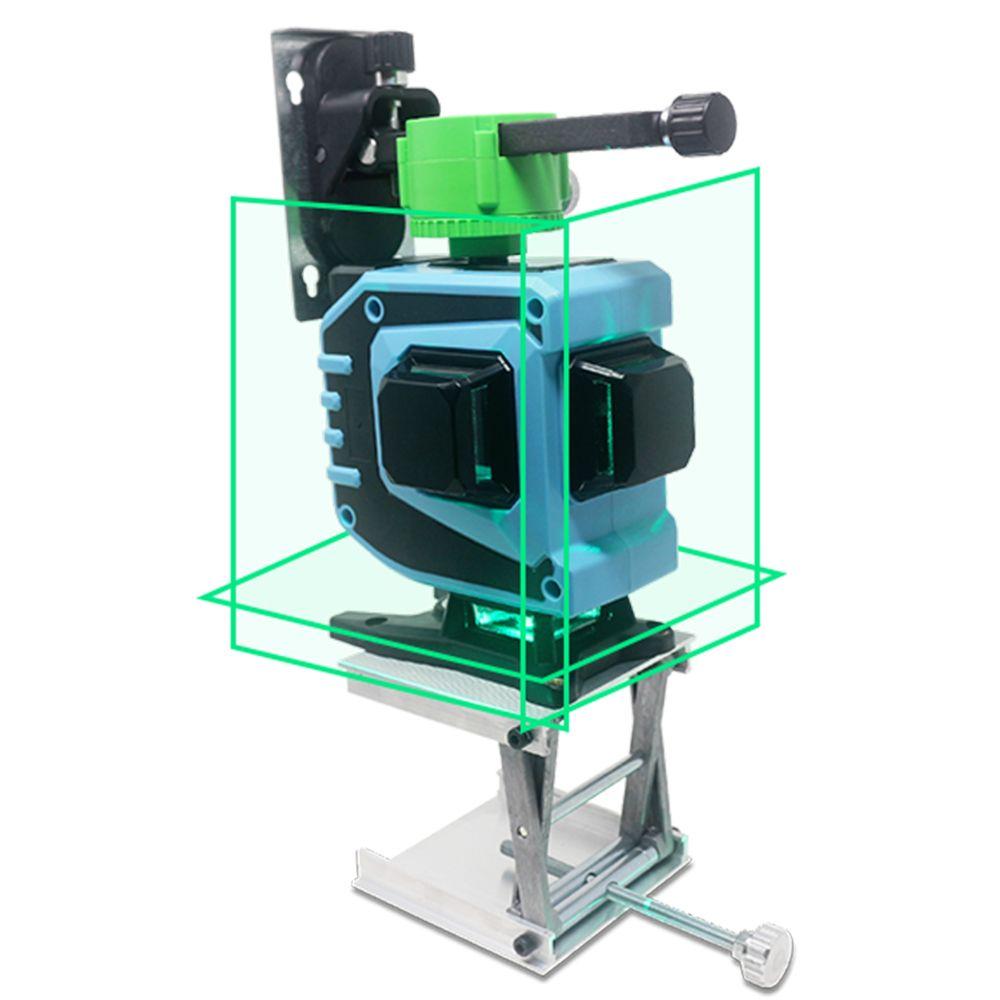 12 linie 3D laser ebene 360 Vertikale Horizontale Laser Ebene Selbst nivellierung Tilt Outdoor Funktion mit Wand Halterung