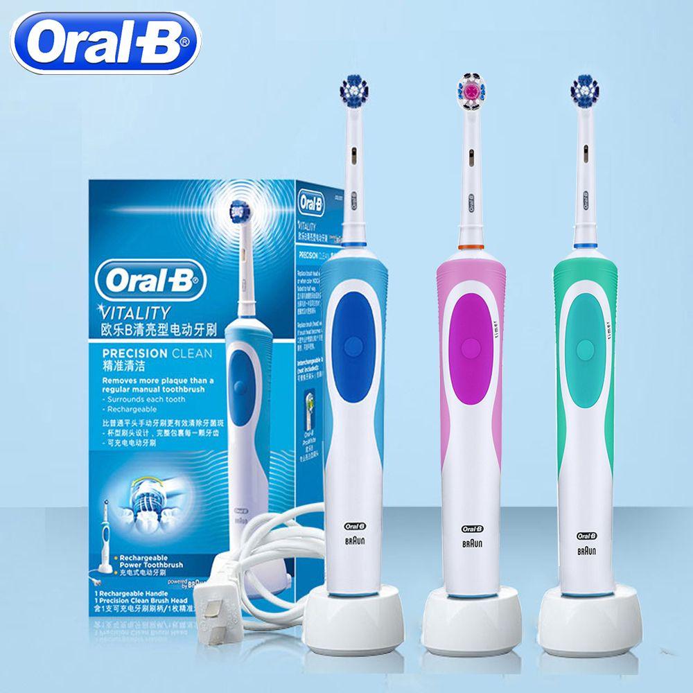 Oral B D12 brosse à dents sonique rotative D12013 brosse à dents Rechargeable hygiène buccale brosse à dents OralB brosse adultes remplacer les têtes