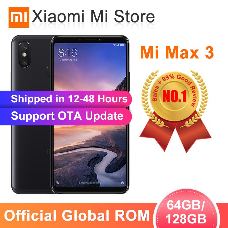Global ROM Xiaomi Mi Max 3 4GB 64GB/6GB 128GB Smartphone Snapdragon 636 Octa Core 6.9