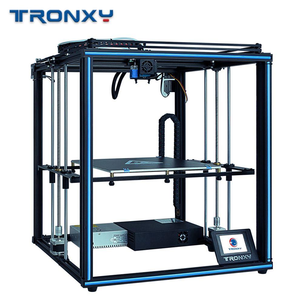 2019 neueste design Tronxy X5SA mit touch screen Auto level DIY 3d Drucker kit Voll metall Große druck größe