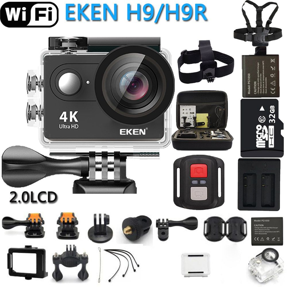 Caméra d'action EKEN eken H9R/H9 Ultra HD 4K WiFi télécommande sport vidéo caméscope DVR DV caméra étanche