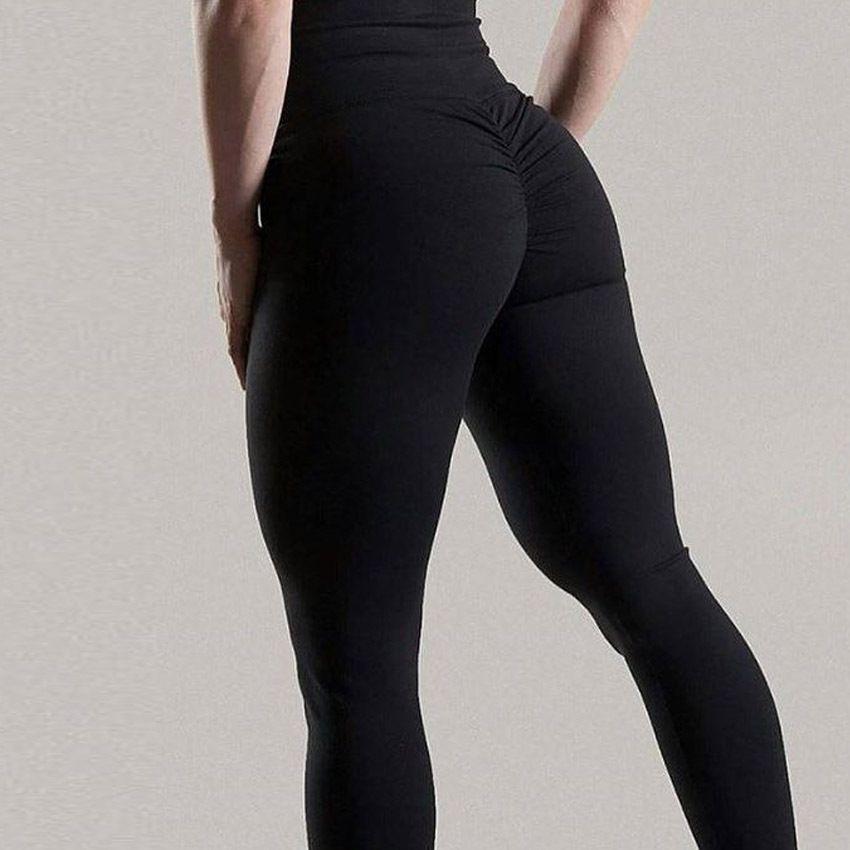 Femmes Leggings Polyester haute qualité taille haute Push Up élastique décontracté entraînement Fitness Sexy pantalon musculation Legging vêtements
