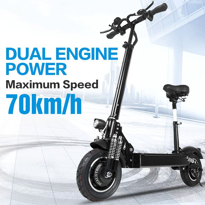 Janobike elektrische roller erwachsene 52 V/2000 W 10 inch road reifen klapp elektrische roller doppel motor elektrische motorrad