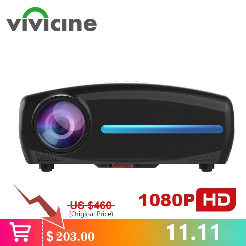 Vivicine S2 Neueste 1080p Projektor, option Android 9.0 HDMI USB PC 1920x1080 Full HD LED Heimkino Video Projektor Proyector