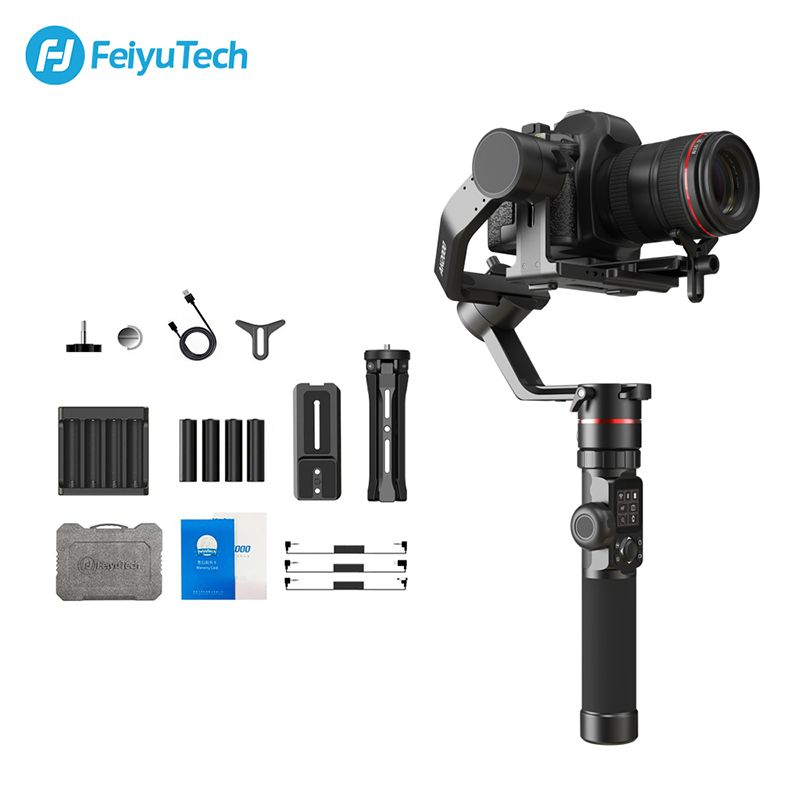 FeiyuTech AK2000 DSLR Kamera Stabilisator Handheld Gimbal mit Fokus Ring für Sony Canon 5D Panasonic GH5 Nikon 5D 2,8 kg nutzlast