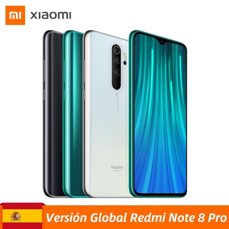 Global Version Xiaomi Redmi Note 8 Pro 6GB 64GB Smartphone 64MP Quad Cameras MTK Helio G90T Octa Core 6.53